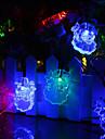 태양 전원 led 문자열 빛 산타 클로스 초상화 0.5w 10lm 2v 6meters 30leds 멀티 컬러 / 따뜻한 화이트 / 화이트