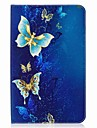 Case For Samsung Galaxy Full Body Cases Tablet Cases Butterfly Hard PU Leather for Tab E 9.6