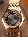Women\'s Fashion Quartz Casual Watch Diamond Alloy Belt Business Round Alloy Dial Watch Cool Watch Unique Watch
