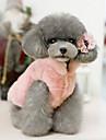 Gato Cachorro Natal Roupas para Caes Vestidos e Saias Casual Aquecimento Dia Das Bruxas Solido Bege Fucsia Rosa claro Ocasioes Especiais