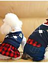 Собака Комбинезоны Платья Одежда для собак Плюшевая ткань Весна/осень Зима На каждый день Английский Черный Красный Для домашних животных