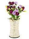 Искусственные Цветы 1pcs Филиал Пастораль Стиль Розы Букеты на стол