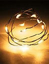 1PCS HKV® 1M 10 LED 2 x AA Battery Copper Wire Fairy String Light Wedding Party Decoration LED String Lights  (No batteries)