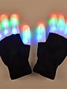 إضاءةLED LED قفازات عيد الميلاد المجيد عطلة إضاءة رؤوس الأصابع للبالغين ألعاب هدية 2 pcs