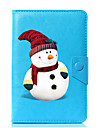 универсальный мультфильм снеговик pu кожаный чехол для подставки для 7-дюймового 8-дюймового 9-дюймового планшета с 10-дюймовым планшетом