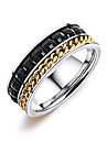 Men\'s Band Rings Resin Korean Fashion Titanium Steel Geometric Jewelry Daily Going out