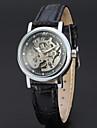 WINNER Жен. Модные часы Нарядные часы Наручные часы С автоподзаводом С гравировкой Кожа Группа Винтаж На каждый день Elegant Черный
