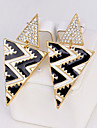 Women\'s Drop Earrings Rhinestone Sexy Elegant Rhinestone Alloy Taper Shape Jewelry For Party Stage