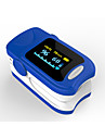 Accurate FS20A OLED Fingertip Pulse Oximeter Oximetry Blood Oxygen Saturation Monitor with batteries Blue Color