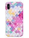 Capinha Para Apple iPhone X iPhone 8 Brilha no Escuro Com Relevo Estampada Capa Traseira Estampa Geometrica Rigida PC para iPhone X