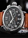 Men\'s Fashion Watch Dress Watch Quartz Calendar Noctilucent Leather Band Casual