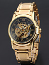WINNER Pánské Hodinky s lebkou Náramkové hodinky mechanické hodinky Automatické natahování Nerez Zlatá 30 m S dutým gravírováním Cool Analogové Luxus Klasické Vintage Na běžné nošení - Bílá Černá