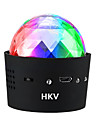 1SET HKV® 3W 5V Mini Portable USB Built in Battery Music Sound Control RGB Stage Lights