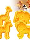 Bakeware 도구 플라스틱 케이크 / 쿠키 / 초콜릿에 대한 만화 모양 / 동물 쿠키 커터 4 개