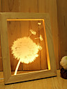 1 Set Of Home Decoration Acrylic 3D Night Light LED Lamp USB Mood Lamp, Photo Frame Light, Dimming, 3W, Dandelion