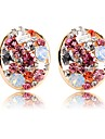 Women\'s Clip Earrings - Crystal Simple Gold For Ceremony / Carnival
