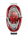 Femme Bracelet de Montre Montre Diamant Simulation Montre de diamant Quartz Noir / Argent / Rouge 30 m Imitation de diamant Analogique dames Etincelant Rigide Mode Elegant - Blanc Noir Rouge
