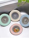 силиконовый tpr кухонный раковина сетчатый санузел душ сливная крышка дуршлаг канализационный фильтр для волос случайный цвет