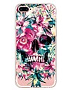 Capinha Para Apple iPhone X iPhone 8 Plus Estampada Capa Traseira Caveiras Flor Macia TPU para iPhone X iPhone 8 Plus iPhone 8 iPhone 7