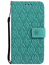 Case For Samsung Galaxy J7 (2017) J5 (2017) Card Holder Wallet with Stand Flip Pattern Full Body Solid Color Lace Printing Hard PU Leather