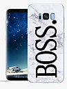 Case For Samsung Galaxy S8 Plus S8 Pattern Back Cover Word / Phrase Marble Soft TPU for S8 Plus S8 S7 edge S7 S6 edge plus S6 edge S6