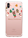 Case For Apple iPhone X XS XR XSMAX iPhone 8 Transparent Pattern Back Cover Christmas Soft TPU for iPhone X iPhone 8 Plus iPhone 8 iPhone 7 Plus