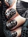 10 Slatko Naljepnica s noktima Crna Fade Dekoracija noktiju