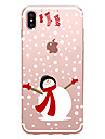 Coque Pour Apple iPhone X iPhone 8 Transparente Motif Coque Noel Flexible TPU pour iPhone X iPhone 8 Plus iPhone 8 iPhone 7 Plus iPhone 7