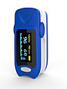 precis fs20a oled bout du doigt oxymetre de pouls oximetrie sang moniteur de saturation d\'oxygene avec batteries couleur bleue