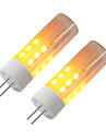 BRELONG® 2pcs 3W 230lm G4 LED Corn Lights 36 LED Beads SMD 2835 Flame Effect Warm White 12V