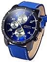 JUBAOLI Men\'s Wrist Watch Quartz Stainless Steel Black / Blue / Red Cool Large Dial Analog Black Dark Blue Red