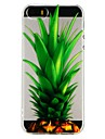 Coque Pour Apple iPhone 6 iPhone 7 Translucide Motif Relief Coque Fruit Bande dessinee Flexible TPU pour iPhone X iPhone 8 Plus iPhone 8