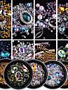 1Bottle Joias de unha Nail Glitter Brilho & Glitter Luxo Design Moderno Espumante Estilo de cristal / strass Alta qualidade Cristal/