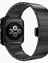 Bracelet de Montre  pour Apple Watch Series 3 / 2 / 1 Apple papillon Boucle Acier Inoxydable Sangle de Poignet