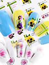 55pcs Autocollant pour ongles Modele d\'estampage d\'ongles Maquillage Fleur Mignon Decalques pour ongles