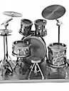 3D Puzzles Metal Puzzles Round Drum Set Jazz Drum Hand-made Parent-Child Interaction Exquisite Metal Music Contemporary Classic & Timeless