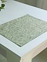 Обычные Полиэфирно-льняная смешанная ткань Квадратный Салфетки-подстилки Настольные украшения