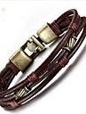 Men\'s Chain Bracelet - Leather Fashion Bracelet Brown For Gift Daily