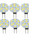 SENCART 6PCS 2W 360lm G4 LED Bi-pin 조명 T 9 LED 비즈 SMD 5730 장식 따뜻한 화이트 12V