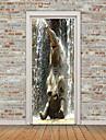 Zvířata 3D Samolepky na zeď Samolepky na stěnu 3D samolepky na zeď Ozdobné samolepky na zeď Samolepky na dveře, Vinyl Home dekorace