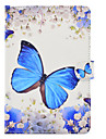 Case For Apple iPad mini 4 iPad Mini 3/2/1 Card Holder Shockproof with Stand Flip Auto Sleep/Wake Up Full Body Cases Butterfly Hard PU