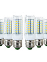 YWXLIGHT® 6pcs 6W 600-700 lm E26/E27 LED-maislampen 56 leds SMD 5730 Warm wit Koel wit 110-130V 220-240V