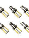 BRELONG® 6pcs 5W 500lm E14 Lampadas Espiga 80 Contas LED SMD 3014 Branco Quente Branco 220-240V