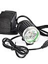 Φακοί Κεφαλιού Μπροστινό φως ποδηλάτου LED LED Εκτοξευτές 6000 lm 1 τρόπος φωτισμού Επαγγελματικό Ανθεκτικό στη φθορά Ελαφρύ Κατασκήνωση / Πεζοπορία / Εξερεύνηση Σπηλαίων Ποδηλασία Κυνήγι Μαύρο