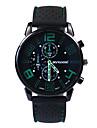 Муж. Модные часы Японский Кварцевый 30 m Повседневные часы силиконовый Группа Аналоговый Кулоны Черный - Красный Зеленый Синий Один год Срок службы батареи