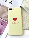 Кейс для Назначение Apple iPhone X / iPhone 7 Plus Матовое / С узором Кейс на заднюю панель Слова / выражения Твердый Акрил для iPhone X / iPhone 8 Pluss / iPhone 8