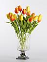פרחים מלאכותיים 10 ענף מודרני סגנון ארופאי צבעונים פרחים לשולחן