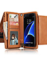 Case For Samsung Galaxy Note 8 Note 5 Card Holder Wallet Full Body Cases Solid Color Hard Genuine Leather for Note 8 Note 5