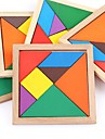 Wooden Puzzles Flat Shape Classic Focus Toy Hand-made Wooden 1pcs Universal Family Toy Baby Gift
