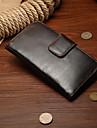 Capinha Para Apple iPhone X iPhone 8 Porta-Cartao Carteira Com Suporte Magnetica Capa Protecao Completa Cor Solida Rigida couro legitimo